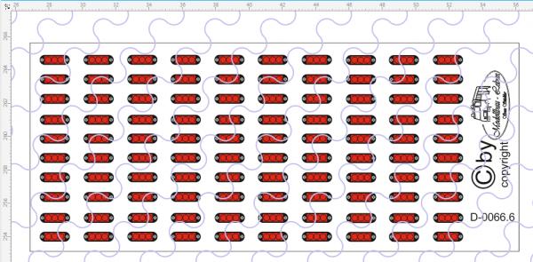 D-0066.6 Begrenzungslichter LED rot - Decalsatz 100 Stück 1:87