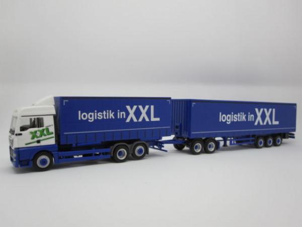 "Herpa 930178 MAN TGX XLX Euro 6 Eurocombi ""Logistik in XXL"" OVP NEU"