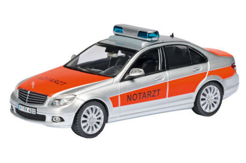 Schuco 04923 - Mercedes Benz C Klasse Limousine W204 Notarzt - limitiertes Modell 1:43 neu in PC Vit