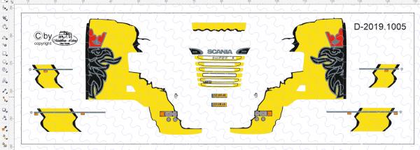 D-2019.1005 - Decalsatz Scania R Design 1 Stk. - 1:87