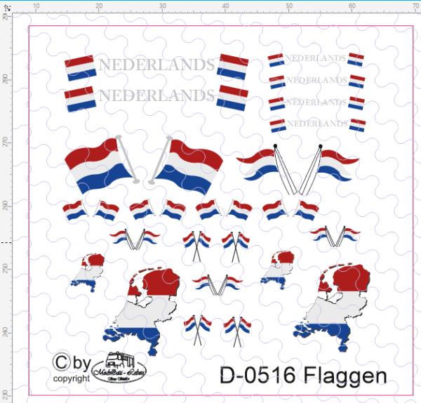 D-0516 Flaggenset Niederlande