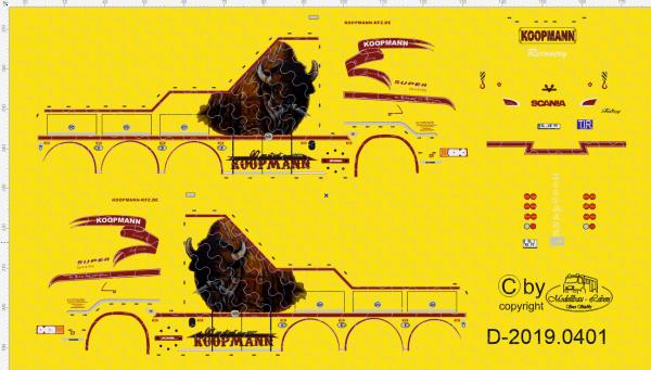 D-2019.0401 - Decalsatz Wrecker Koopmann - 1 Stk - 1:87
