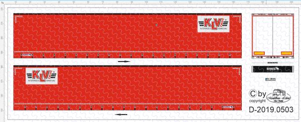D-2019.0503 Decalsatz Planenauflieger KLV Rent - 1 Stk - 1:87