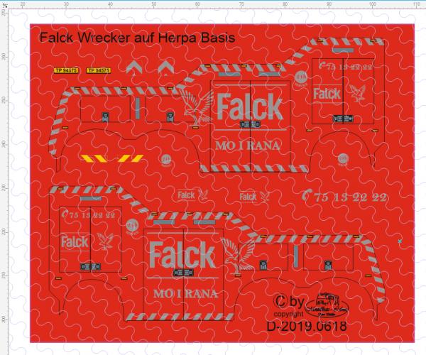 D-2019.0618 - Decalsatz Flack Wrecker auf Herpa Basis 1:87