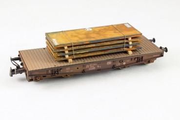 Vorbestellung Ladegüter Bauer H01048 Stahlplatten, mittel verrostete, gestapelte Stahlplatten auf Ho
