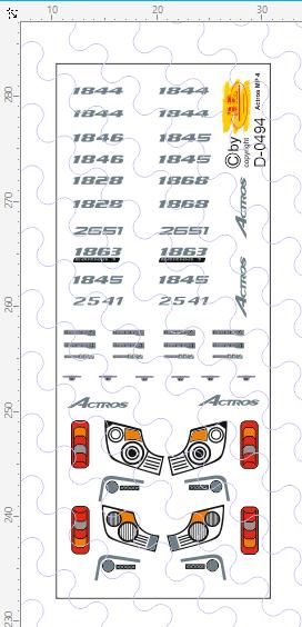D-0494 - Decalsatz Merdes Benz MP4 Details