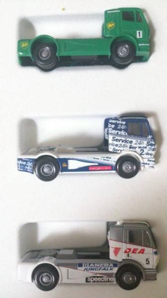 Wiking Truck Race Set - 3 MB SK Renntruck BP , Continental und DEA