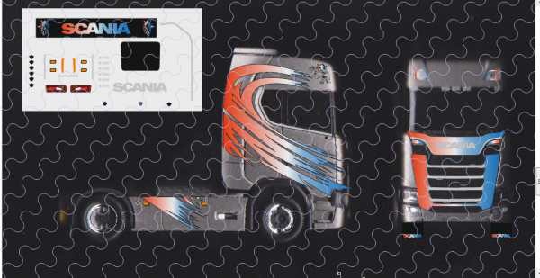 D-2017.031.F - Decalsatz Scania S Decorbogen Frankreich 1:87