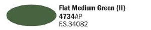 4734AP Vallejo Italeri Acrylicpaint Acrylfarbe Flat Medium Green II - mittelgrün II , matt 20 ml