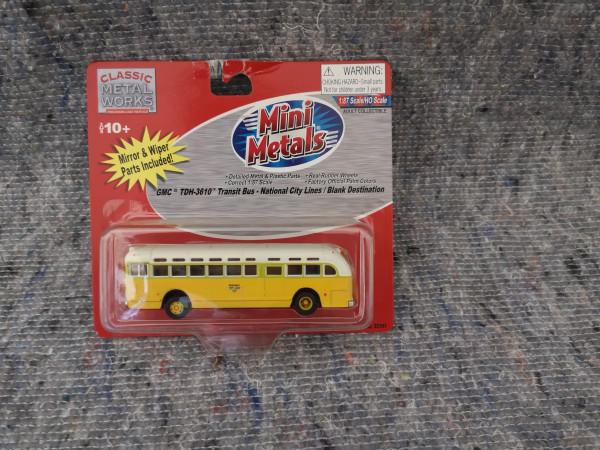 Classic Metal Works Mini Metals TDH-3610 Transit-Bus National City Lines