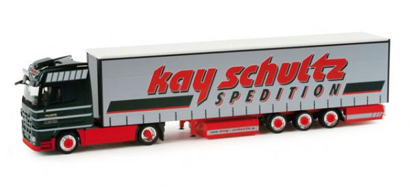 """Herpa 157834 Mercedes-Benz Actros LH 08 Lowliner-Sattelzug """"Kay Schultz"""""""