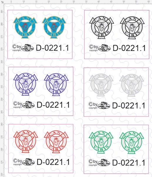 D-0221.1 Decalsatz Scania Vabis farbig