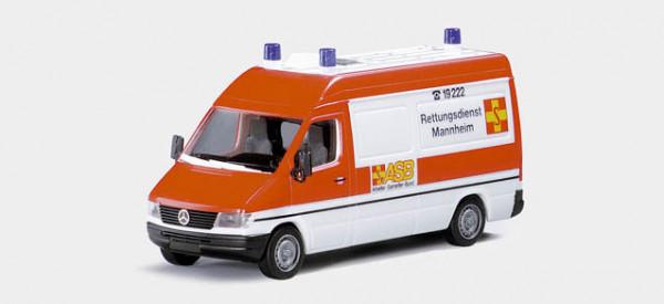 """Herpa 043786 - MB Sprinter ASB """"Rettungsdienst Mannheim"""""""