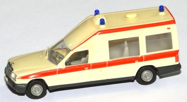 Herpa Mercedes Binz Miesen Bonna 124 Krankenwagen