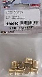 HS 410010 Airbrush-Schablonen-Gewichte-klein-8-Stück-