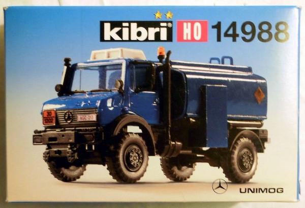 KB 14988 - Kibri Unimog mit Tankaufbau - Gendamerie, Bausatz in H0