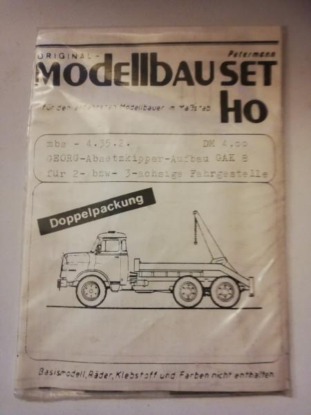 Petermann Original-Modellbauset 4.35.2 GEORG-Absetzkipper-Aufbau GAK 8 für 2-bzw-3-a Fahrgestelle 1: