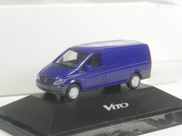 Herpa Sondermodell Mercedes Benz Vito 2 Kasten blau in PC-OVP