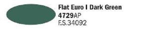 4729AP Vallejo Italeri Acrylicpaint Acrylfarbe Flat Euro I Dark Green - Euro I Dunkelgrün , matt 20