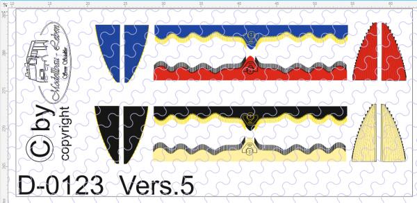 D-0123.5 Gardinen Decalsatz Version 5 - 4 Stück 1:87