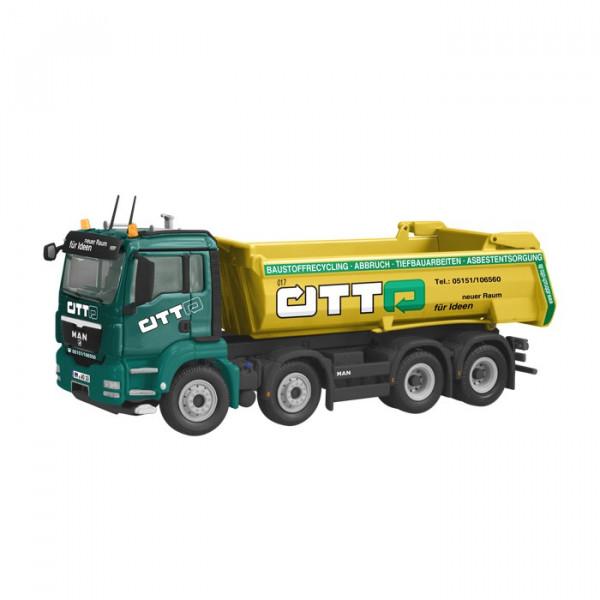 NZG 833-02 MAN TGS 8x4 Halfpipe Kipper Otto 1:50 Sammlermodell