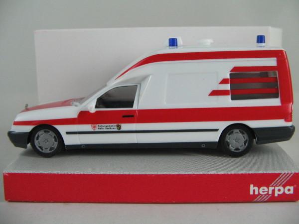 Herpa 045780 - MB W 210 Binz KTW - Rettungsdienst Halle Saale