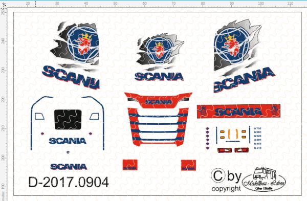 D-2017.0904 - Decalsatz Scania S Vabis zerrissen 1 Stück - 1:87 Decal