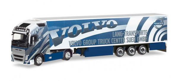 "Herpa 308014 Volvo FH 16 Gl. XL Kühlkoffer-Sattelzug ""Lang Transporte / Volvo Truck Center Sued"