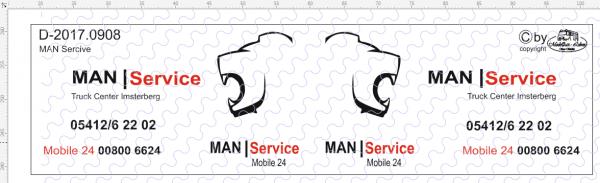 D-2017.0908 - Decalsatz MAN Service Fahrzeug 1 Stück 1:87