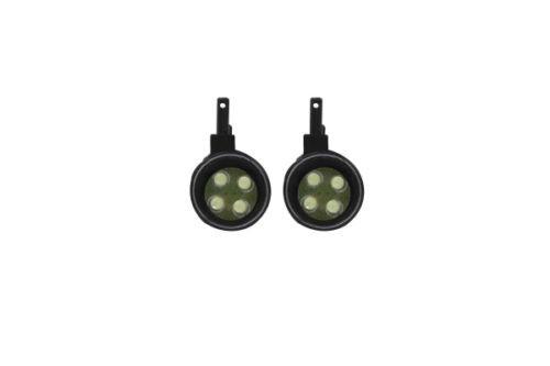 Jamara 505284 Car LED Scheinwerfer rund weiß mit Schutzglas 2 Stck