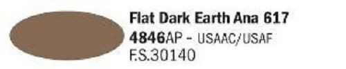 4846AP Vallejo Italeri Acrylicpaint Acrylfarbe flat Dark Earth Ana 617 - Dunkelerdfarben Ana 617 , m