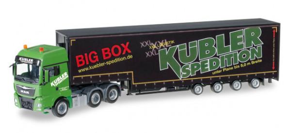 "Herpa 306553 MAN TGX XXL 6x2 Meusburger-Sattelzug ""Kübler Big Box"""