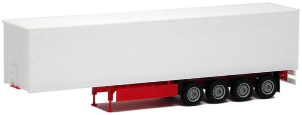 Herpa 640361 GardinenPlAufl. 4achs (Plane -glatt- weiß, Chassis rot)1 Stück 1:87