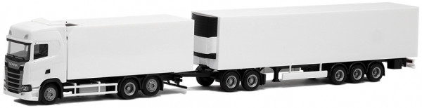 Herpa 933476 Scania CS 20 HD Kühlkoffer Gigaliner weiß