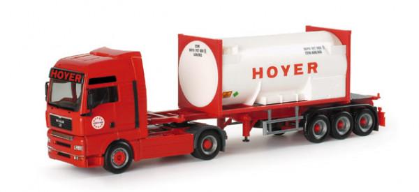 "Herpa 152778 MAN TGA XXL 5-Star Gascontainer-Sattelzug ""Hoyer"""