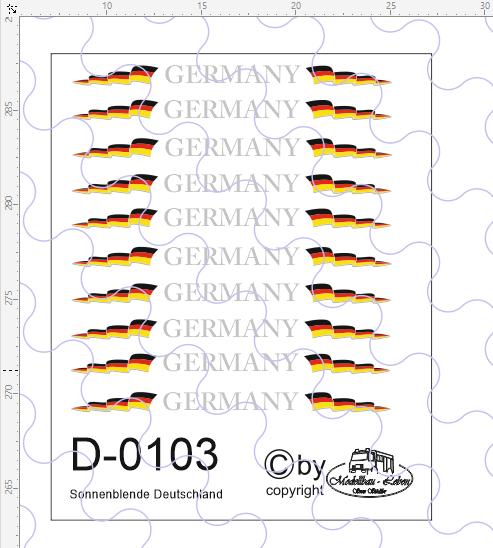 D-0103 Sonnenblende Deutschland