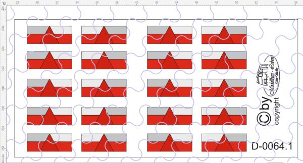 D-0064.1 Rückleuchte 5 Kammer - Decalsatz 10 Paar 1:87