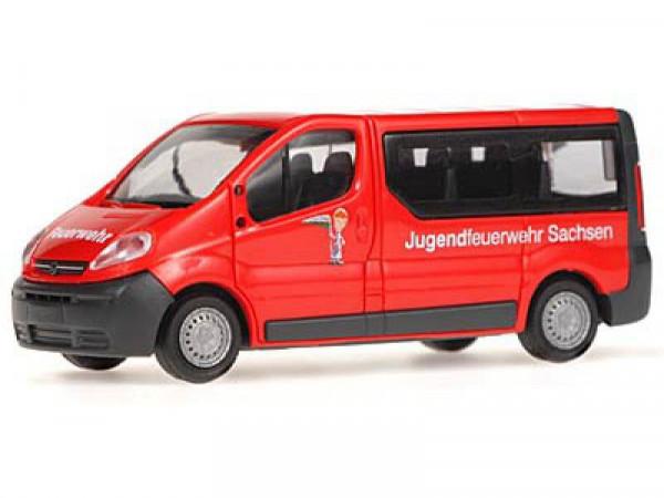 Rietze 51292 Vivaro Jugend FW Sachsen Opel Vivaro Jugendfeuerwehr Sachsen, 1:87