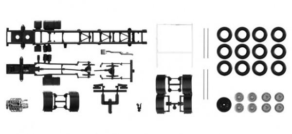 084710 Fahrgestell Scania R 4-achs LKW mit U-Schutz (Inhalt: 2 Stück)