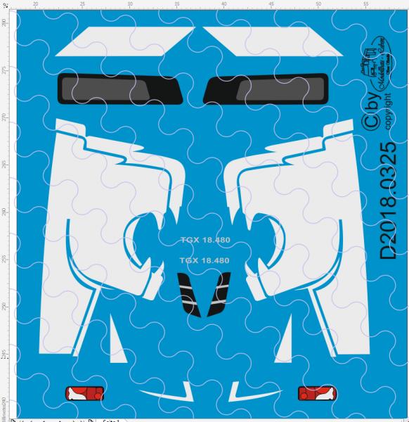 D-2018.0325 - Decalsatz MAN White Lion Edition 1 Stück 1:87
