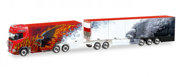 "Herpa 308489 Scania CS 20 HD Eurocombi ""Ristimaa Fire Bird"" (FIN)"