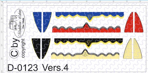 D-0123.4 Gardinen Decalsatz Version 4 - 4 Stück 1:87