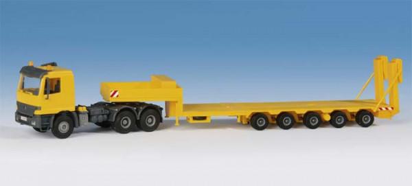 KB 14654 - Kibri MB ACTROS mit GOLDHOFER Plattformtieflader Bausatz H0
