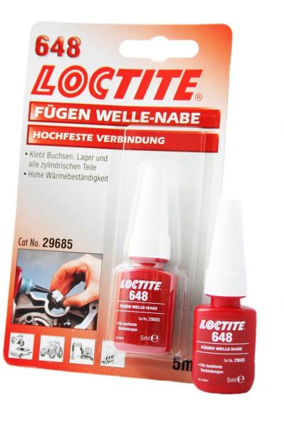 Loctite 648 hochfest Fügeklebstoff,universell einsetzbar, Fügen Welle Narbe