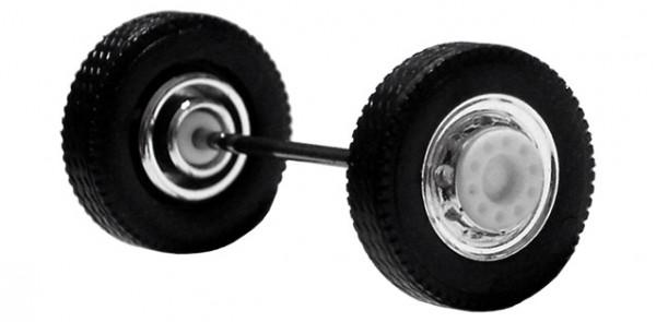 690103 A - Radsatz 2tlg. chrom/weiß, Vorderachse